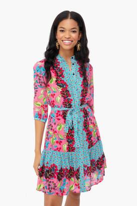 Saloni Berry Border Tyra Dress