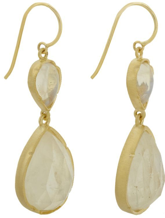 Irene Neuwirth Double-Drop Earrings-Colorless