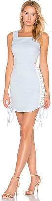 Endless Rose Side Lace Up Dress in Blue $126 thestylecure.com