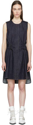 Carven Indigo Denim Twist Back Dress
