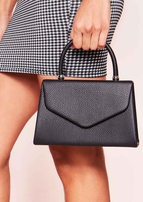 634ed167f5c3 Missy Empire Missyempire Gina Black Faux Leather Envelope Bag
