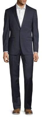 Calvin Klein 2-Piece Tonal Plaid Wool Suit