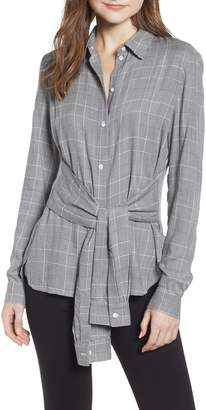 Bailey 44 Hold Me Tight Houndstooth Check Tie Front Shirt