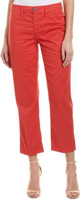 Joe's Jeans Jane Nantucket Red High-Rise Straight Crop