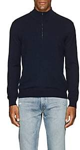 Barneys New York Men's Cashmere Half-Zip Mock-Turtleneck Sweater-Navy