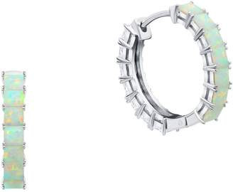 Crislu Duo Crystal Hoop Earrings