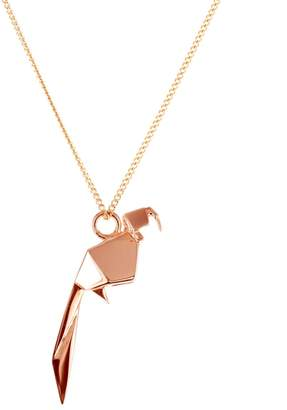 Origami Jewellery Mini Parrot Necklace Rose Gold