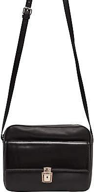 French Connection Clean Caroli Faux Leather Cross Body Bag, Black