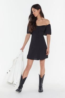 Nasty Gal Womens I Was Lost Button-Down Mini Dress - Black - 6, Black