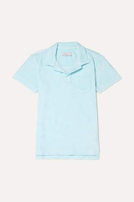Orlebar Brown Kids - Digby Cotton-terry Polo Shirt - Light blue
