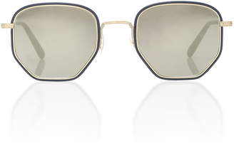 Oliver Peoples Alland Hexagonal Sunglasses