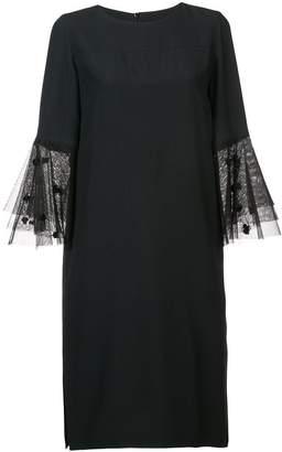 Akris Punto tulle bell sleeves dress