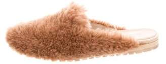 Helmut Lang Round-Toe Shearling Mules