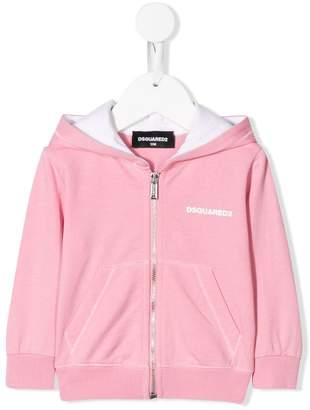 DSQUARED2 zip front hoodie