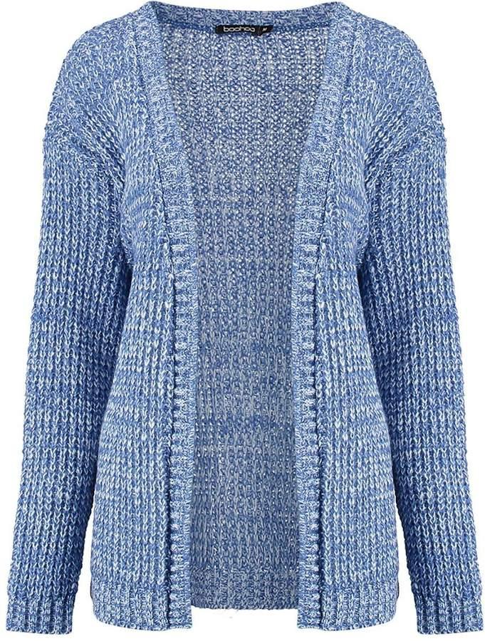 Boohoo Isadora Edge To Edge Grungy Marl Knit Cardigan - ShopStyle.co.uk Women
