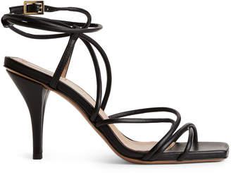 9ea6225dd Black Leather Straps Sandals For Women - ShopStyle UK