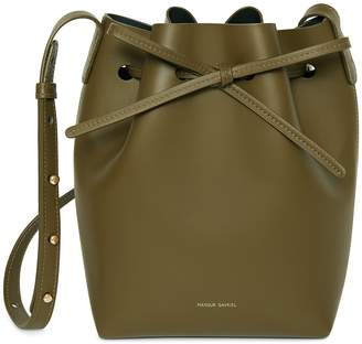 Mansur Gavriel Calf Mini Bucket Bag - Olive