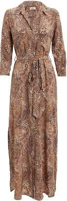 L'Agence Cameron Leopard & Paisley Shirt Dress