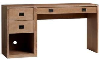 Pottery Barn Teen Addison Desk + Single Pedestal Set, Brushed Gray
