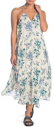 Love Stitch Floral Print Halter Dress
