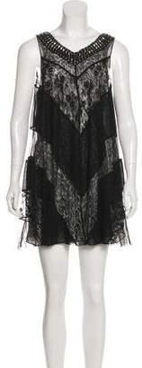 Pierre Balmain Embellished Sleeveless Mini Dress