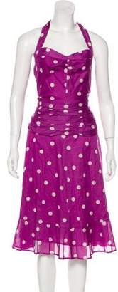 Marc Jacobs Polka Dot Halter Dress