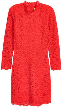 H&M Short Lace Dress - Red