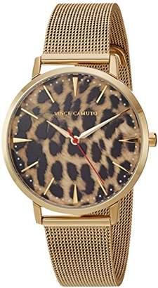 Vince Camuto Women's VC/5344LEGB Leopard Pattern Dial -Tone Mesh Bracelet Watch