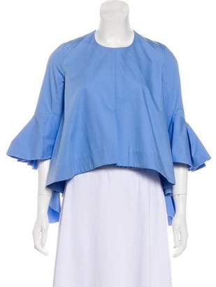 Ellery Bell Sleeve Ruffle Top w/ Tags
