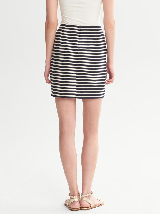 Banana Republic Piped Navy Stripe Mini