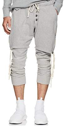 Greg Lauren Men's Layered Cotton Lounge Pants