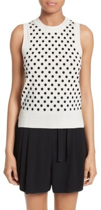 Women's Marc Jacobs Polka Dot Knit Shell $225 thestylecure.com