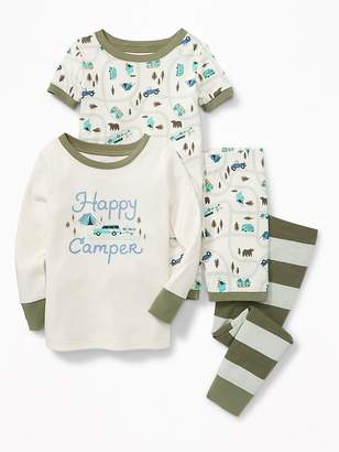 "Old Navy ""Happy Camper"" 4-Piece Sleep Set for Toddler & Baby"
