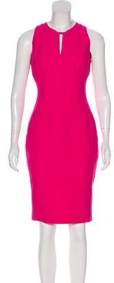 Versace Sleeveless Sheath Dress Fuchsia Sleeveless Sheath Dress