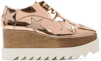 Stella McCartney Rose Gold Metallic Elyse Stars Derbys