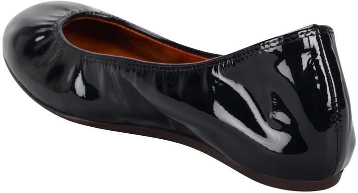 Lanvin Patent Leather Ballerina Flat, Black