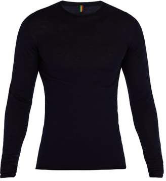 Iffley Road - Dartmoor Long Sleeved Merino Top - Mens - Navy