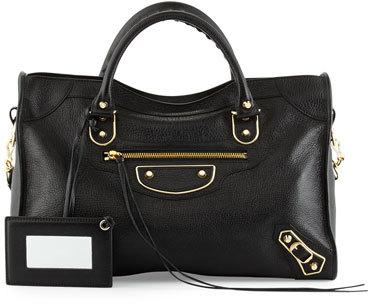 Balenciaga Balenciaga Metallic Edge Golden City Bag, Black