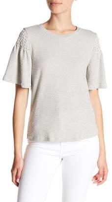 Bobeau Textured Knit Shirt (Petite)
