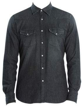 Eleventy Western Denim Shirt