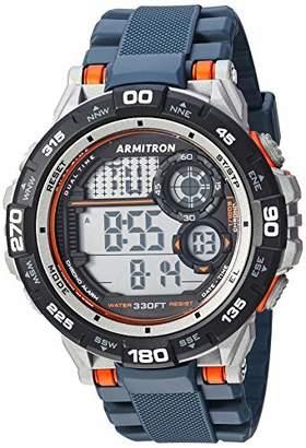 Armitron Sport Men's 40/8441NVY Orange Accented Digital Chronograph Resin Strap Watch