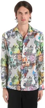 Etro Sadu Printed Fluid Linen Shirt
