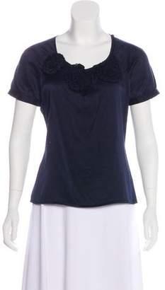 Max Mara Silk Short Sleeve Top
