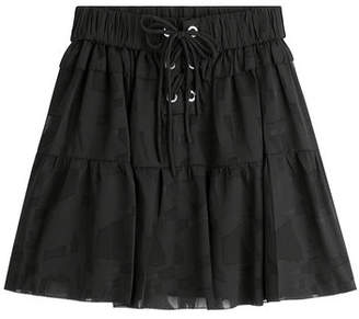 IRO Mini Skirt with Drawstring Waist