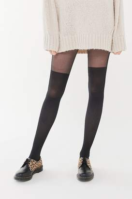 Urban Outfitters Ribbed Faux Thigh High Tight