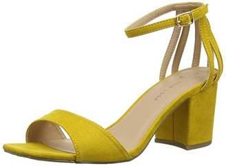 New Look Women's Wide Foot Tequila Open Toe Heels (Dark Yellow 87), (39 EU)