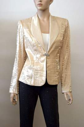 Alex Evenings Gold Blazer Jacket