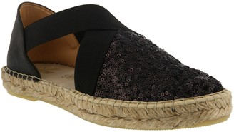 Spring Step Azura by Sequin and Leather Espadrilles - Della