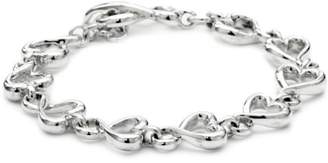 Zina Sterling Silver Contemporary Collection Fluid Heart Bracelet