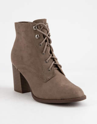 Soda Sunglasses Lurk Taupe Womens Heeled Booties